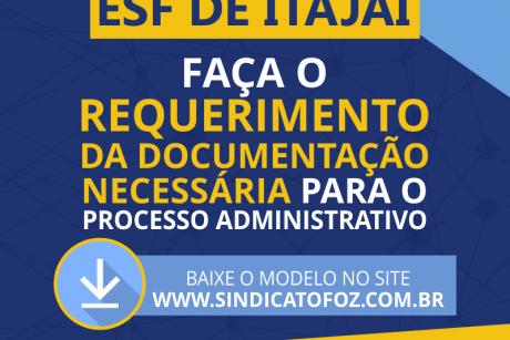 Servidores da ESF de Itajaí devem requerer documentação na Secretaria de Saúde