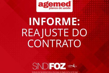 Reajuste anual do contrato Agemed acontece em setembro