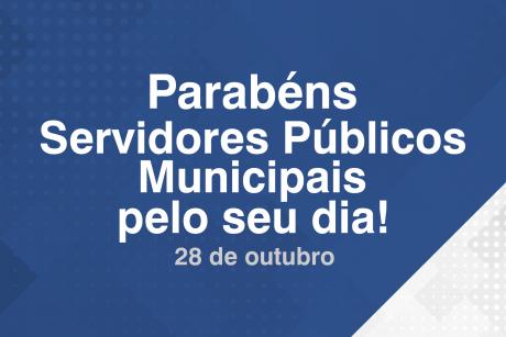 Parabéns servidores públicos pelo seu dia!