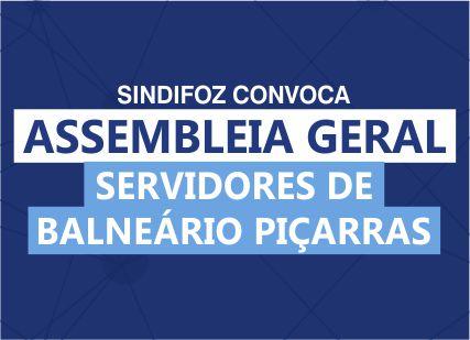 Assembleia Geral em Balneário Piçarras (14/03)