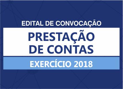 Edital de convocação: prestação de contas do exercício de 2018