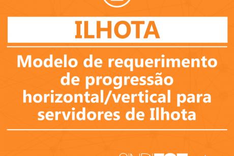 Sindifoz disponibiliza modelo de requerimento de progressão horizontal/vertical para servidores de Ilhota