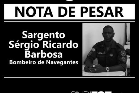 Nota de pesar: Sargento Sérgio Ricardo Barbosa
