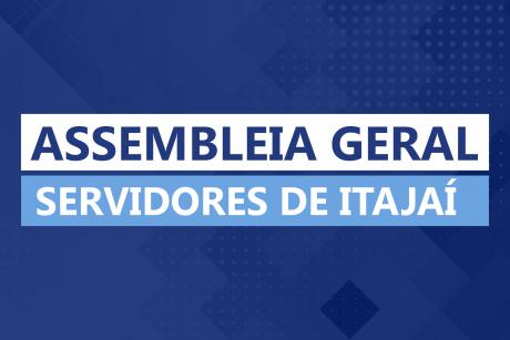 Assembleia Geral em Itajaí nessa terça-feira (14/05)