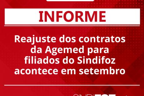 Reajuste dos contratos da Agemed para filiados do Sindifoz acontece em setembro