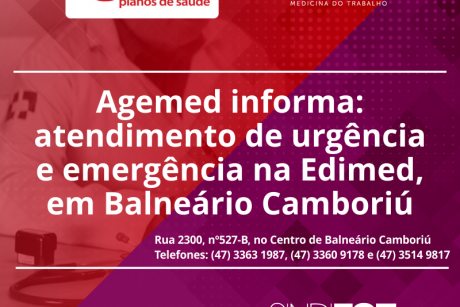 Agemed informa: atendimento de urgência e emergência na Edimed, em Balneário Camboriú