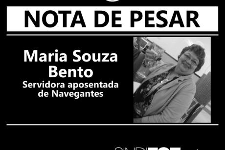 Nota de pesar: Maria Souza Bento, servidora aposentada de Navegantes
