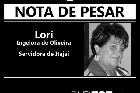 Nota de pesar: Lori, servidora de Itajaí