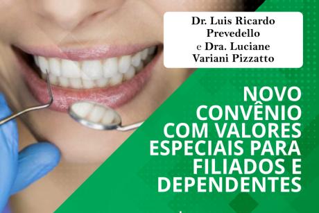 Novo convênio: Dr. Luis Ricardo Prevedello e Dra. Luciane Variani Pizzatto