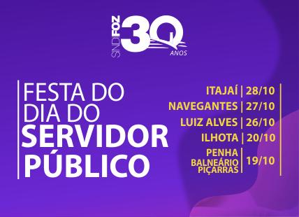 Sindifoz promove eventos na região em alusão ao Dia do Servidor Público