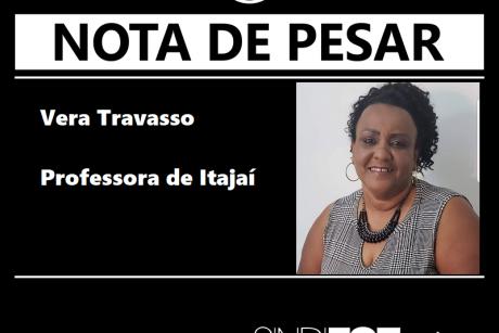 Nota de pesar: Vera Travasso – professora de Itajaí