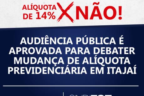 Vamos à luta: Audiência Pública é aprovada para debater mudança de alíquota previdenciária em Itajaí