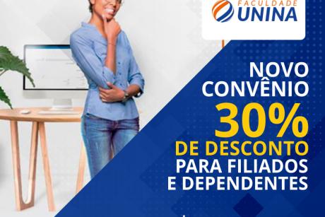 Novo convênio: Faculdade Unina