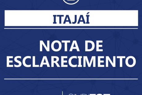 Itajaí: Nota de esclarecimento