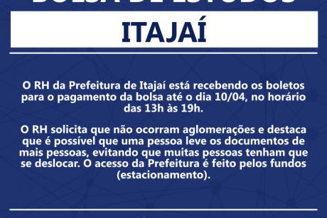 Bolsa de estudos para servidores de Itajaí