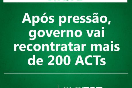 Após pressão, governo vai recontratar mais de 200 ACTs de Itajaí