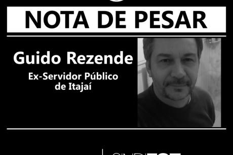 Nota de pesar – Guido Rezende