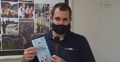 """Confira entrevista na TV Câmara sobre a cartilha """"COVID-19: Saúde e segurança no trabalho"""""""