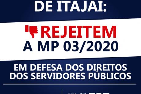 Vereadores de Itajaí: rejeitem a MP 03/2020
