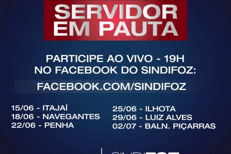 """Sindifoz irá realizar série de lives """"Servidor em Pauta"""""""