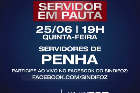 Penha: live Servidor em Pauta nessa quinta-feira