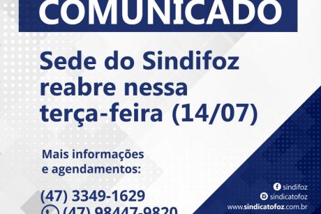 Sede do Sindifoz reabre nessa terça-feira (14/07)