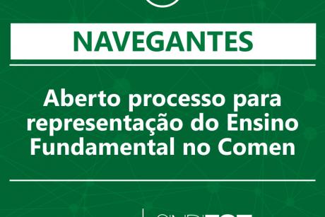 Navegantes: Aberto processo para representação do Ensino Fundamental no Comen