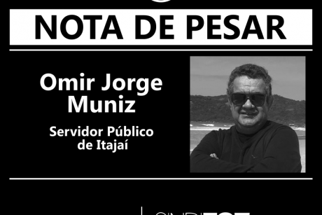 Nota de Pesar: Omir Jorge Muniz, servidor de Itajaí