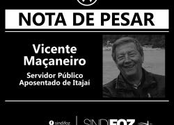 Nota de Pesar: Vicente Maçaneiro, servidor aposentado de Itajaí