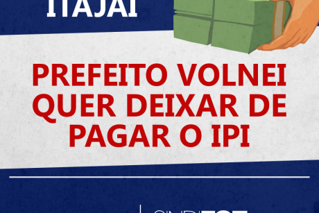 Itajaí: Prefeito Volnei quer deixar de pagar o IPI