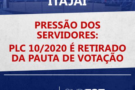 Pressão dos servidores: PLC 10/2020 é retirado da pauta de votação