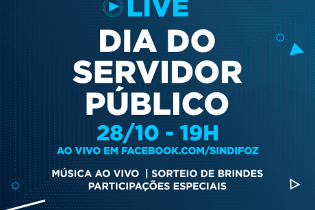 Fique ligado: Live do Servidor Público no dia 28/10