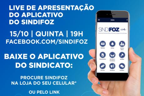 Nova data para a live de apresentação do aplicativo do Sindifoz
