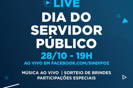 Sindifoz promove live em comemoração ao Dia do Servidor Público nessa quarta-feira