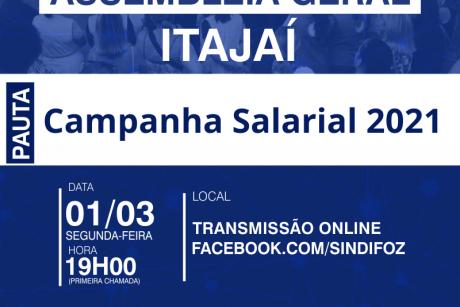 Assembleia Geral da Campanha Salarial 2021 em Itajaí