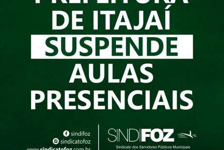 Prefeitura de Itajaí suspende aulas presenciais até 14 de março