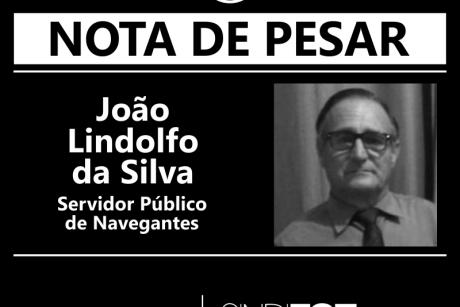 Nota de Pesar: João Lindolfo da Silva, servidor de Navegantes
