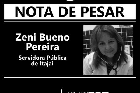 Nota de Pesar: Zeni Bueno Pereira, servidora de Itajaí