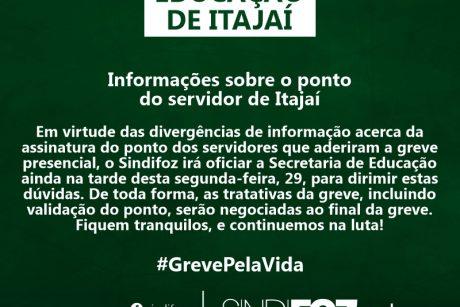 Informações sobre o ponto do servidor de Itajaí