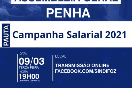 Assembleia Geral com servidores de Penha sobre a Campanha Salarial 2021