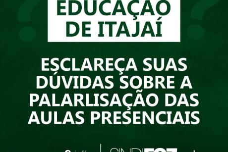 Esclareça suas dúvidas sobre a greve dos servidores da Educação de Itajaí das aulas presenciais
