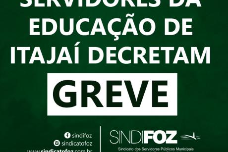 Servidores da Educação de Itajaí decretam greve das aulas presenciais