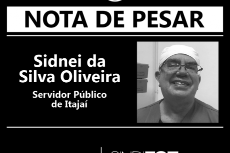 Nota de Pesar: Sidnei da Silva Oliveira e Andrea da Costa Pereira, servidores de Itajaí