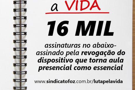 Abaixo-assinado lançado pelo Sindifoz já ultrapassa 16 mil assinaturas