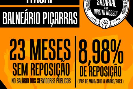 Servidores de Itajaí e Balneário Piçarras chegam a 23 meses sem reposição salarial