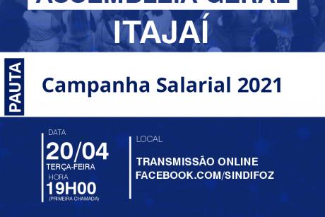 Assembleia Geral da Campanha Salarial de Itajaí