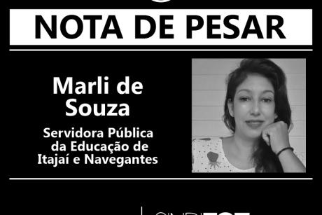 Nota de Pesar: Marli de Souza, servidora da Educação de Itajaí e Navegantes