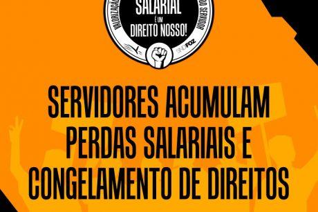 Servidores acumulam perdas salarias e congelamento de direitos