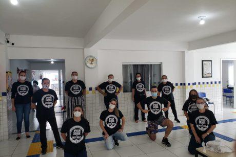 Servidores de Itajaí realizam ato da campanha REPOSIÇÃO SALARIAL É UM DIREITO NOSSO