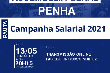 Assembleia Geral com servidores de Penha nesta quinta-feira